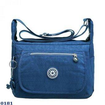 กระเป๋า กระเป๋าสะพาย กระเป๋าสะพายผู้หญิงผ้าไนล่อน No.0181 - D.Blue