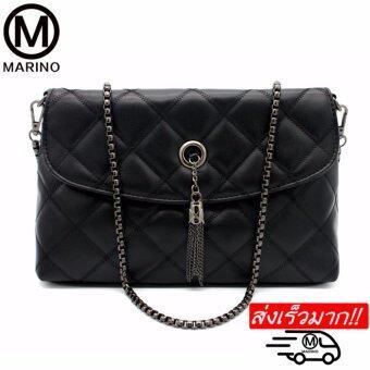 Marino กระเป๋าสะพายข้าง กระเป๋าสะพายไหล่ กระเป๋าสำหรับผู้หญิง No.0219 - Black
