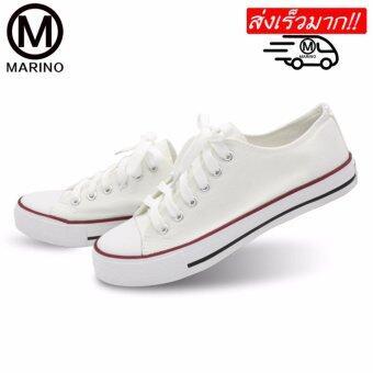 Marino รองเท้าผ้าใบผู้หญิง No.A001 - (สีขาว)