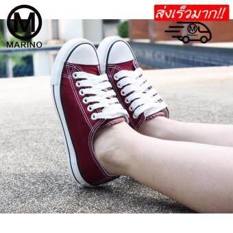 Marino รองเท้าผ้าใบผู้หญิง รองเท้าแฟชั่น No.A001 - (สีเลือดนก)