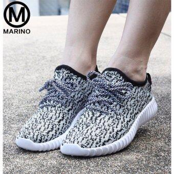 Marino รองเท้า รองเท้าผ้าใบผู้หญิง No.A005 - White Black (image 3)