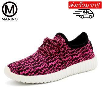 Marino รองเท้า รองเท้าผ้าใบผู้หญิง No.A005 - White / Red