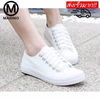 Marino รองเท้าผ้าใบผู้หญิง No.A007 - สีขาว