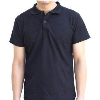 Marino เสื้อโปโล เสื้อแขนสั้นผู้ชายสีดำ No.S003 - ดำ (image 0)