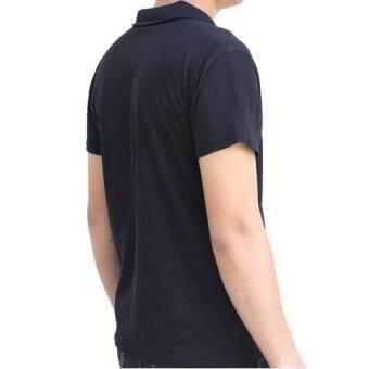 Marino เสื้อโปโล เสื้อแขนสั้นผู้ชายสีดำ No.S003 - ดำ (image 3)