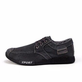 Marverlous รองเท้าผ้าใบ รองเท้าผ้าใบผู้ชาย รองเท้าแฟชั่น B05 (Black)