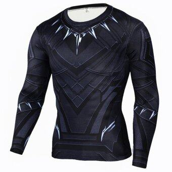 Men Compression Tight T-shirt Long Sleeves Prints Base Layer(Type4) - intl