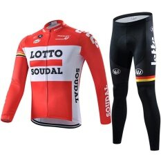Men Cycling Jersey Pro Team Long Sleeve Bicycle Clothing - intl