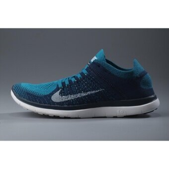 Harga Men Knit Free 4.0 Running Shoe Blue White - intl