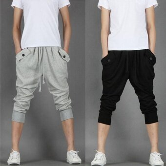 Men Long Casual Sports Pants Gym Slim Fit Trousers Running JoggerGym Sweatpants - intl