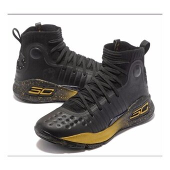 Men Sneakers For Curry 4 Basketball Shoes(black/golden) - intl