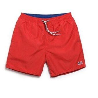 Men Swimwear Swim Shorts Trunks Beach Board Shorts Swimming Short Pants Swimsuits Mens Jogger Running Sports Shorts Bermuda Surf Shorts(Red) - intl