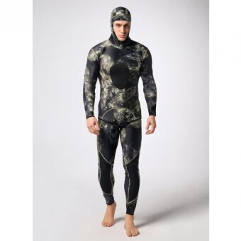 Men Two-piece Super-stretch WetSuit For Diving surfing Swimming (Camouflage) - intl