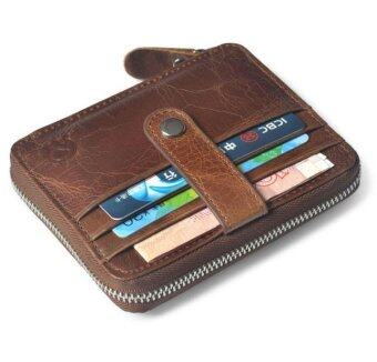 Men's Genuine Leather Cowhide Bifold Wallet ID Credit Card Holder Coin Purse - intl