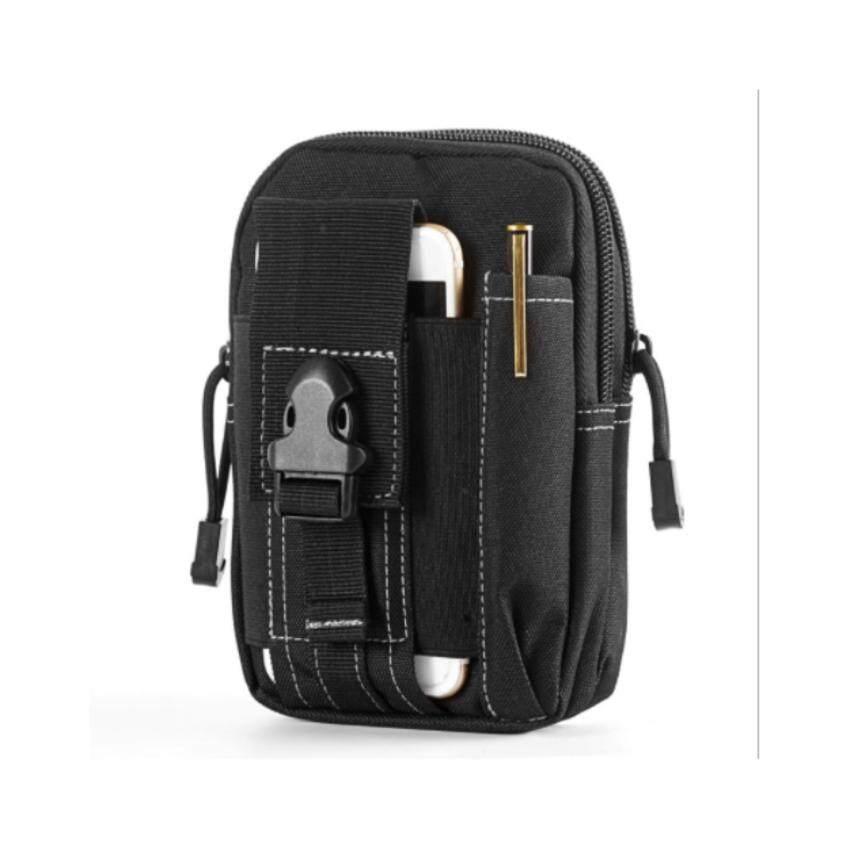 Men's Waist Bag Outdoor Sports Tactical Coin Purse Waist Fanny Packs Waterproof Pouch Bag D30 (Brown)