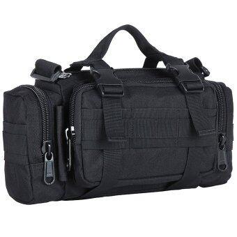 Men's Bags กระเป๋าคาดเอว Waist Bag + กระเป๋าจักรยาน bike Bags +กระเป๋าคาดอก Wearlink bag 3 in 1 bag ( สีดำ )