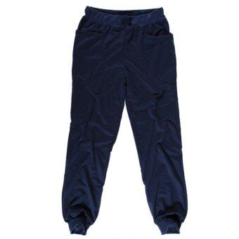 ... Gracefulvara Men's Slim Fit… แนะนำ Men's Casual Jogger Dance Sports Harem Pants (Blue)- INTL