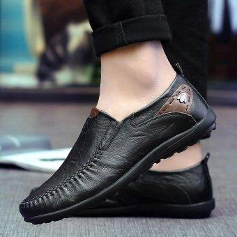 Men's fashion leisure British Genuine Leather shoes - intl