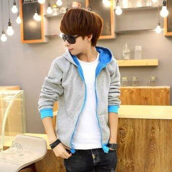 'Men''s Thin Korean Fashion Sports & Leisure Baseball Athletic& Outdoor Jackets(Color:Grey) - intl'