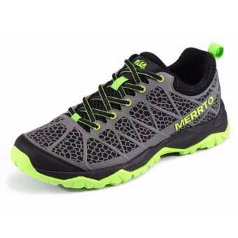 ซื้อ/ขาย Merrto รองเท้าวิ่ง สุดแนว ด้วยดีไซน์เฉพาะ Spider Web รูระบายอากาศ ลดการอับชื้น รุ่น 8663 (สีเทา/เขียว)