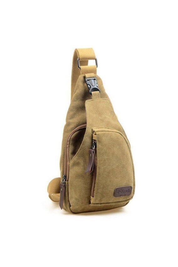 Moonar กระเป๋าเป้กระเป๋าสะพายกระเป๋าชาย Messenge (สีน้ำเงิน)