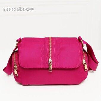 สี่เหลี่ยมเล็กๆเกาหลีใหม่ฤดูใบไม้ผลิและฤดูร้อนกระเป๋าถือกระเป๋า Messenger (สีชมพู)