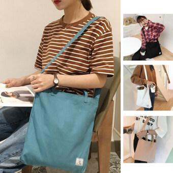 เวอร์ชั่นเกาหลีสีทึบใหม่กระเป๋าสะพายถุงผ้าใบของ Messenger (A ฟ้าแสง) (A ฟ้าแสง)