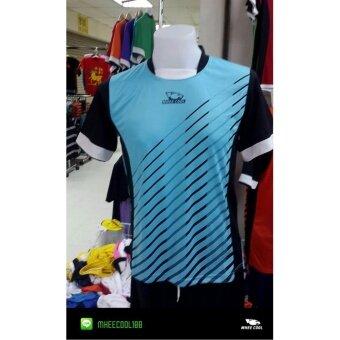 Mheecool เสื้อพิมลายสีฟ้า