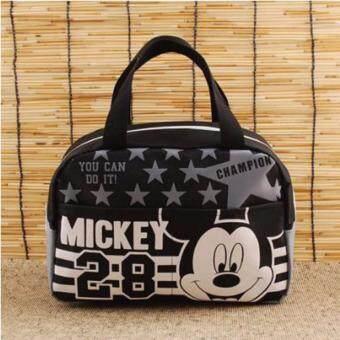 Mickey Mouse & Friends Hand Bag กระเป๋ามิกกี้เมาส์ และเพื่อนสีดำ งานลิขสิทธิ์แท้ 100%