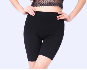 Modaier เพศหญิงส่วนบางหลาใหญ่ Leggings กางเกงความปลอดภัย (สีดำ)