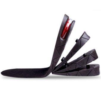 MODAKU แผ่นเสริมส้น 1 คู่ เพิ่มความสูงได้ 4 ระดับ Insole 1 pair 4 layers 3, 5, 7, 9 cm. แบบเต็มเท้า (Black/สีดำ)