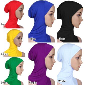 Moonar หญิงมุสลิมสวมผ้าคลุมหัวแบบอิสลามใส่ผ้าฝ้ายคอปกฮิญาบ (สีดำ) - 2