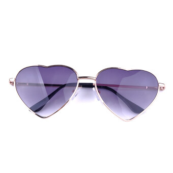 Moonar เพศผู้หญิงผู้ชายแว่นตากันแดดแว่นตาทรงวินเทจหัวใจ (สีม่วง)