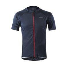 กีฬากลางแจ้งขี่จักรยานเสื้อสะท้อนแสงเสื้อแขนสั้นฤดูรถจักรยาน MTB สวมเสื้อผ้า-เทาเข้ม