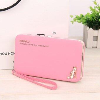 Harga Multi-function Woman Long Wallet Mobile Phone Bag - Light Pink