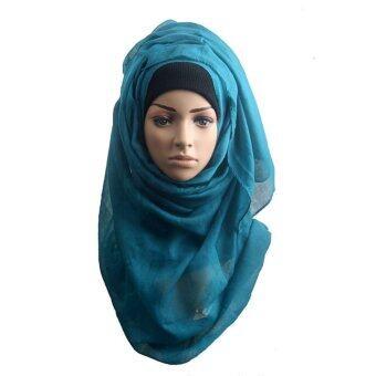 Muslim Hijab Islamic Women Kerchief Scarf Hijabs Shawls Solid HeadScarves 175-180cm - intl
