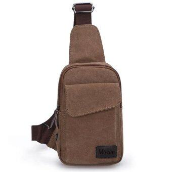Harga MUZEE Man's Shoulder Bag Messenger Bags Sport Canvas Bag - Coffee - intl