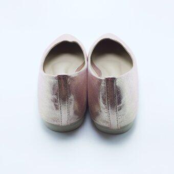 Mymelody รองเท้า ผู้หญิง ส้นเตี้ย หุ้มส้น รุ่น MY0002 (PINK) - 4