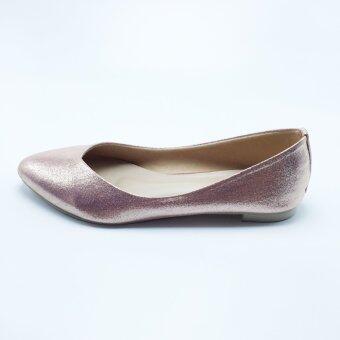 Mymelody รองเท้า ผู้หญิง ส้นเตี้ย หุ้มส้น รุ่น MY0002 (PINK) - 5