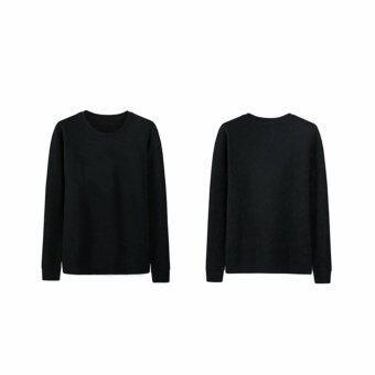 Napha UnisexT-Shirt แขนยาว สีดำ - 3