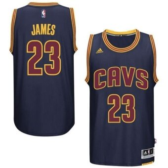 Navy Blue Cleveland Cavaliers Men's LeBron James Swingman Player Number 23 Basketball Jersey NBA American Basketball Top Official Team color Dry Fast size XXL - intl