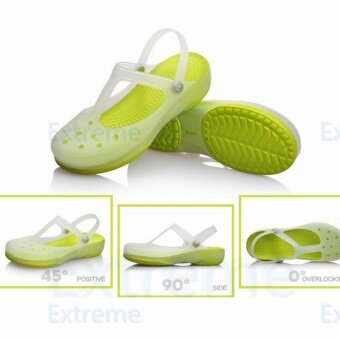 Harga New 2017 Women Sandals color change Mary Jane shoes Summer crocBeach jelly shoes flat sandals woman Slides(Green) - intl
