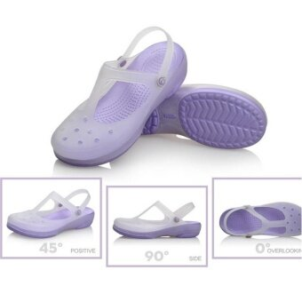 Harga New 2017 Women Sandals color change Mary Jane shoes Summer crocBeach jelly shoes flat sandals woman Slides(Purple) - intl