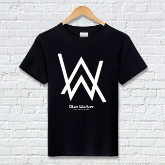 New Alan Walker Alan Walker faded men short sleeve cotton T-shirtstudents Fashion casual shirt - intl