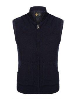 มาใหม่ Sunweb ผู้ชายคอปกแขนกุดบางพอดี REVERSIBLE Wear Fleece (สีฟ้า)