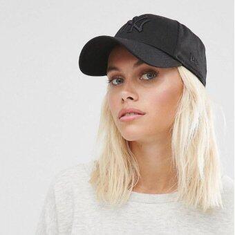 หมวก NEW ERA 9Forty Cap NY สีดำ โลโก้ดำ