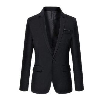 New Men's Leisure Casual Business Suit Jacket (Black) - intl
