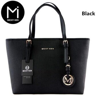 Harga New New Best Fashion Women Messenger bags Lady Tote Bag HighQuality Shoulder Bags PU Pure Color Bag (Black) - intl