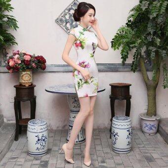 New Spring Fashion Improved Thin Women Dress Cheongsam - intl