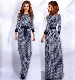 New Summer Women's Diamond Plaid Skirt Women's Robe Muslim Skirt - intl